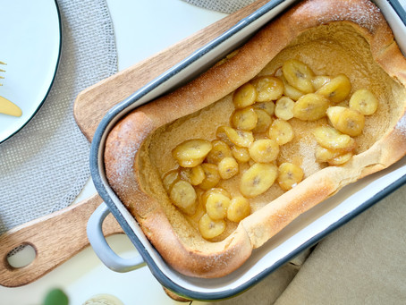 Dutch Baby - Ofenpfannkuchen mit Bananen