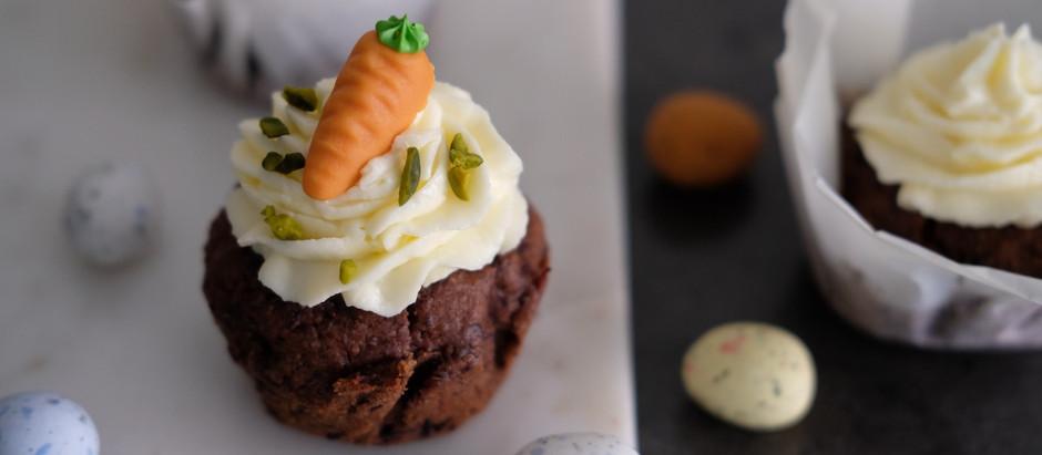 Carrot-Chocolate Cupcakes - Karotten-Schoko Cupcakes