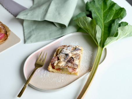 Rhabarber-Schnee-Kuchen