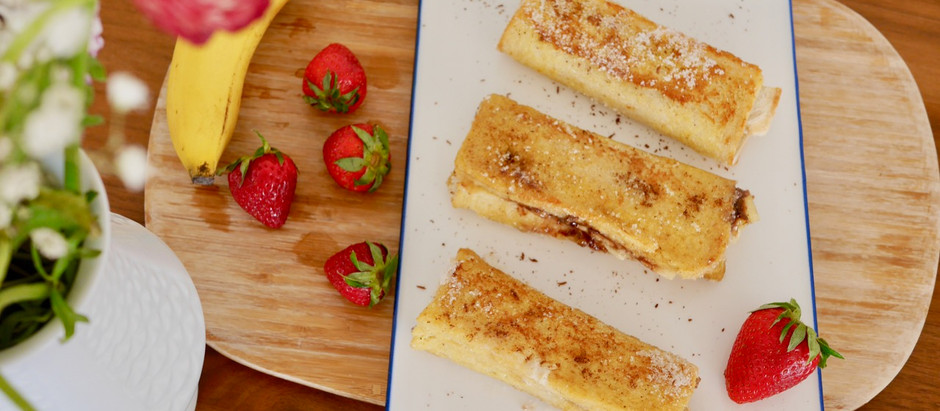 Gerolltes French Toast