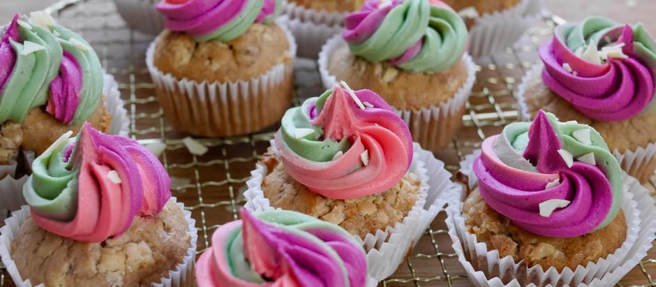 Cupcakes mit Schoko-Banane