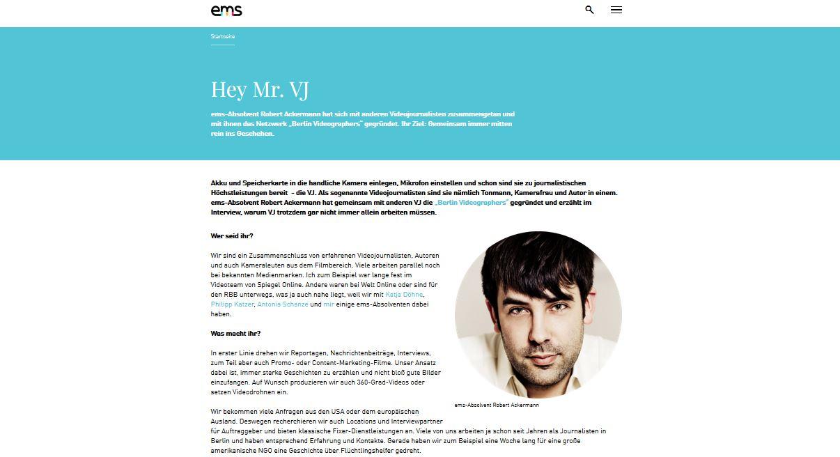 "Hey Mr. VJ"" - Interview about Berlin Videographers | Berlin ..."
