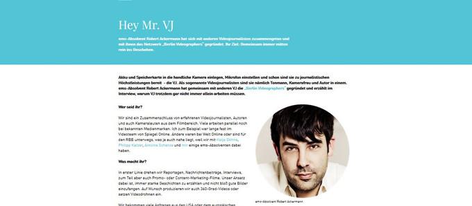 """Hey Mr. VJ"" - Interview about Berlin Videographers"