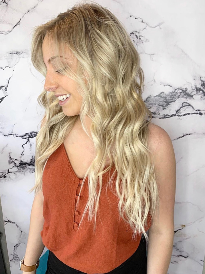 Effortless Blonde Extensions
