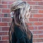 Blonde highlighted hair