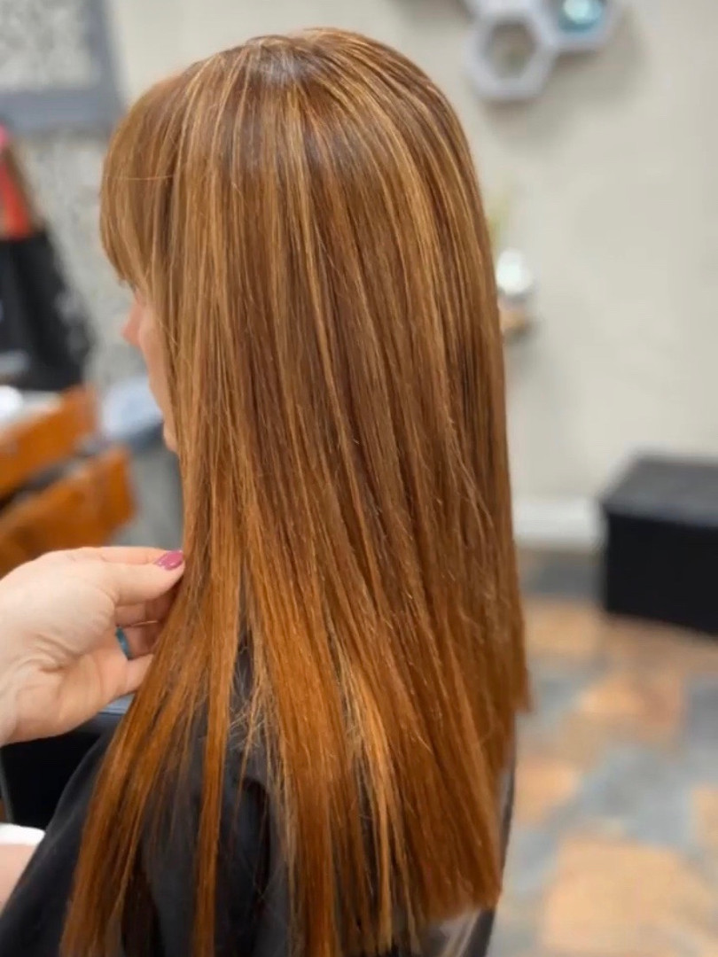 Red Handtied Hair Extensions