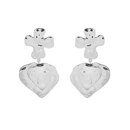 La Catrina Dangle Earrings Silverplated