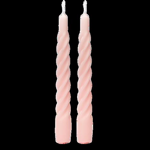 Matt Light Pink Twisted Candle