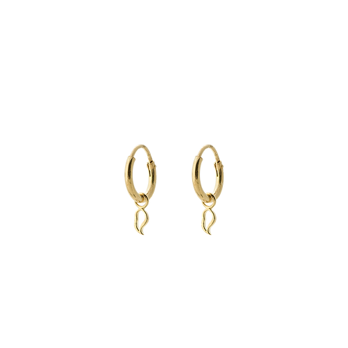 Flame Ring Single Earring Goldplated