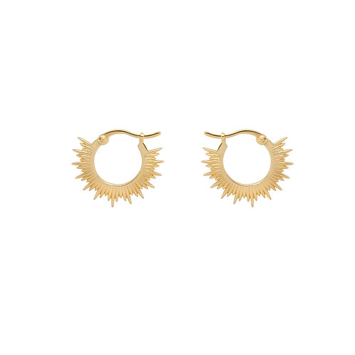 Rising Sun Ring Earrings Goldplated