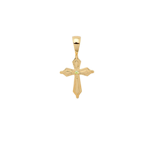 Madonna Cross Necklace Charm Goldplated