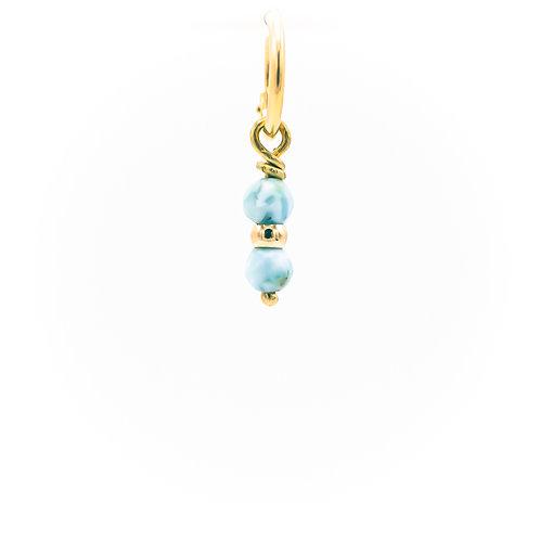 Single amazonite earring