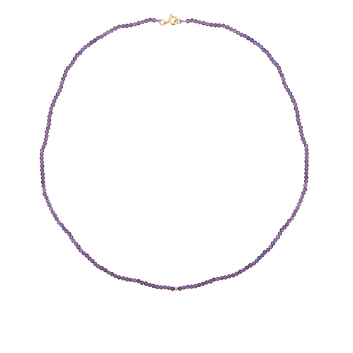 Josephine Beaded Necklace Amethyst Goldplated