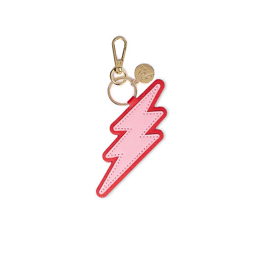 "Bagcharm ""Lightning pink-red"""