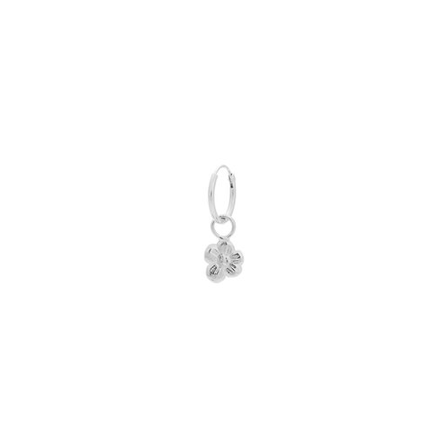 Single Soul Flower Ring Earring Silver