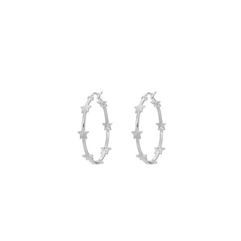 Nova Hoop Earrings Silverplated