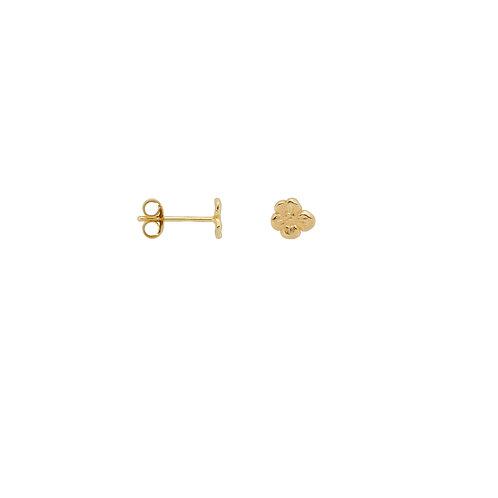 Single Soul Flower Stud Earring Goldplated