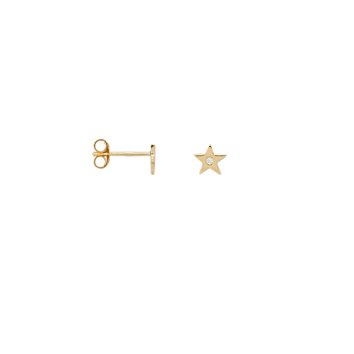 Single Stellar Stud Silver Goldplated