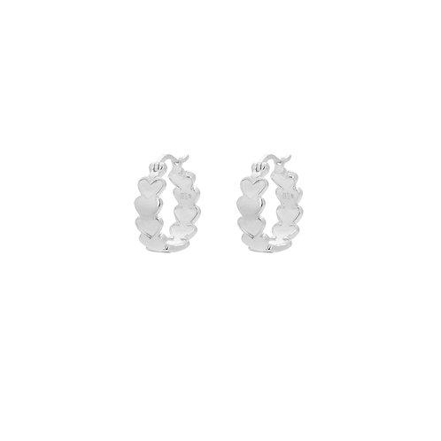 Amor Plain Ring Earrings Silver