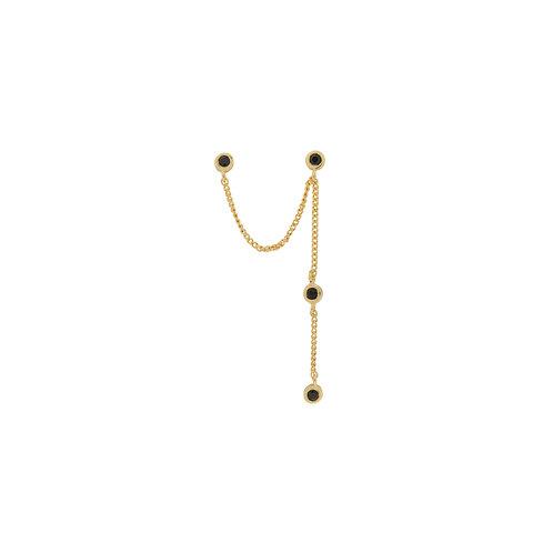 Single Duo Mystic Drape Chain Earring Goldplated