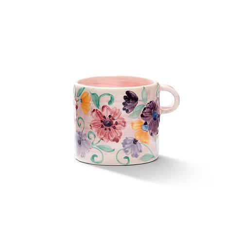 Floral Mug in Blush Pink