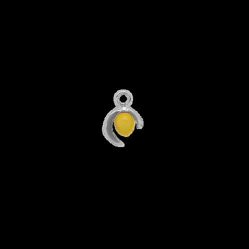 Lemon Earring Charm Silver