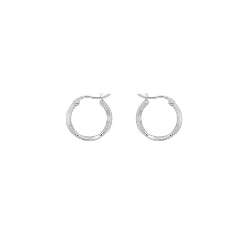 Dazzling Ring Earrings Silver