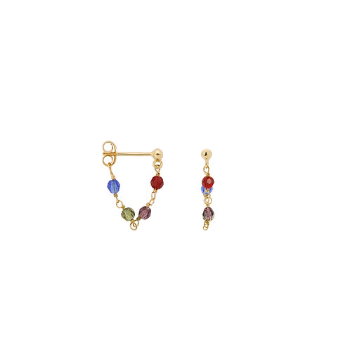 Single Muse Chain Earring Goldplated
