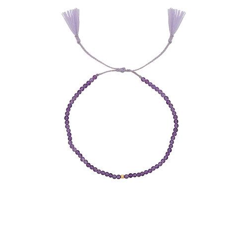 Josephine Thread Bracelet Amethyst Goldplated
