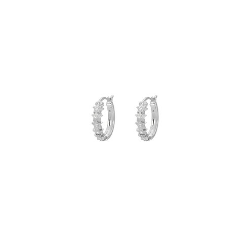 Starry Ring Earrings Silver