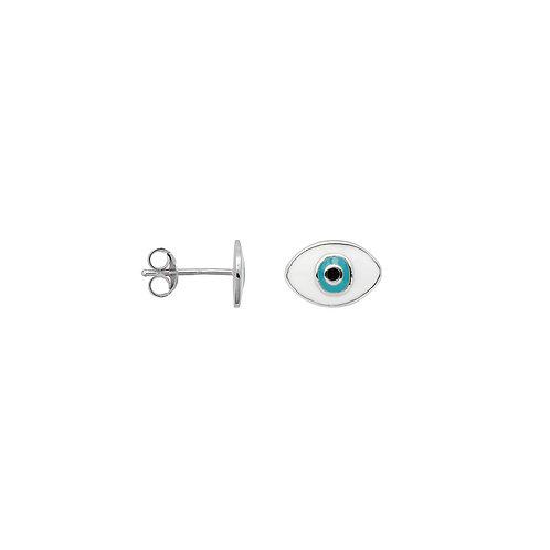Single Eye Stud Silver