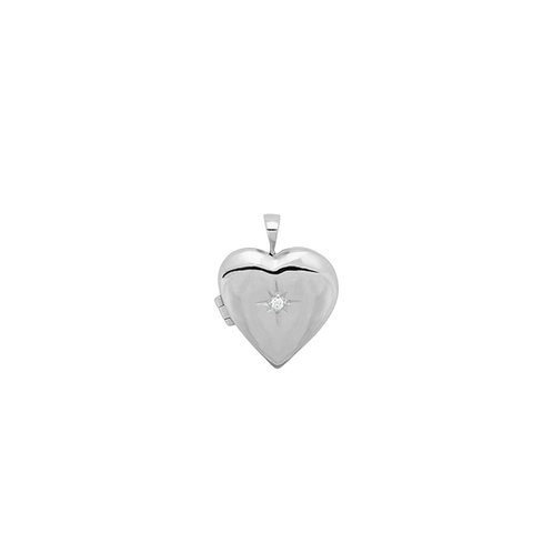 Heart of Gold Necklace Charm Silver
