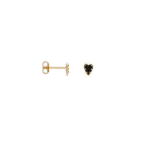 Single La Muerta Heart Stud Earring Goldplated