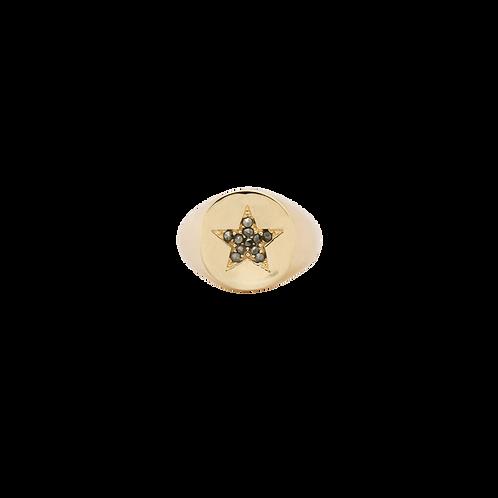 Sheriffs Star Signet Ring