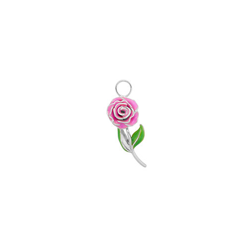 Wild Rose Earring Charm Silver