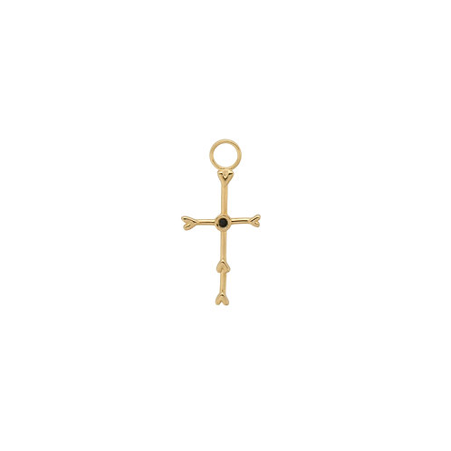 Cross My Heart Earring Charm Goldplated