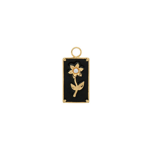 Marigold Flower Earring Charm Goldplated