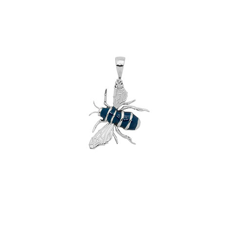 The Honey Bee Necklace Charm Goldplated is handmade using 925 sterling silver wi