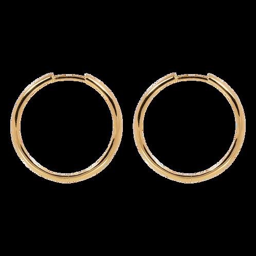 Medium plain hoops