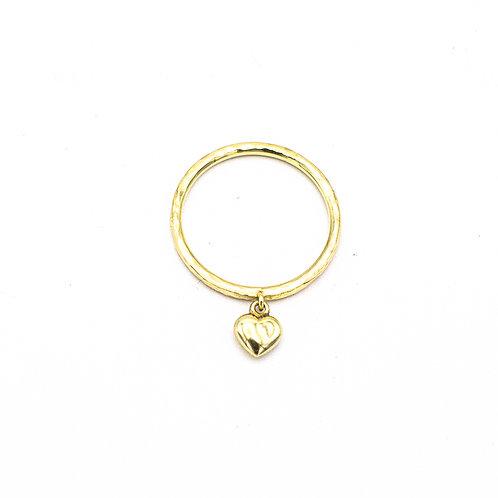 Heart charm ring