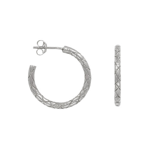 Statement snake hoops in sterling silver
