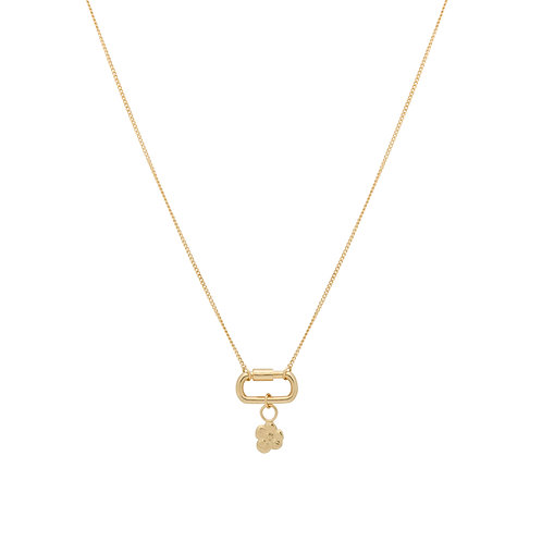 Locked Soul Flower Necklace Goldplated