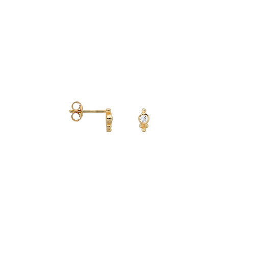 Single Bindi Stud Zirconia Goldplated
