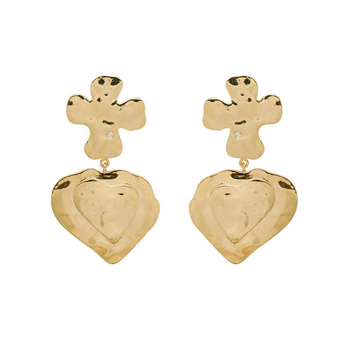La Catrina Dangle Earrings Goldplated