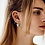 Thumbnail: Flame Ring Single Earring Goldplated