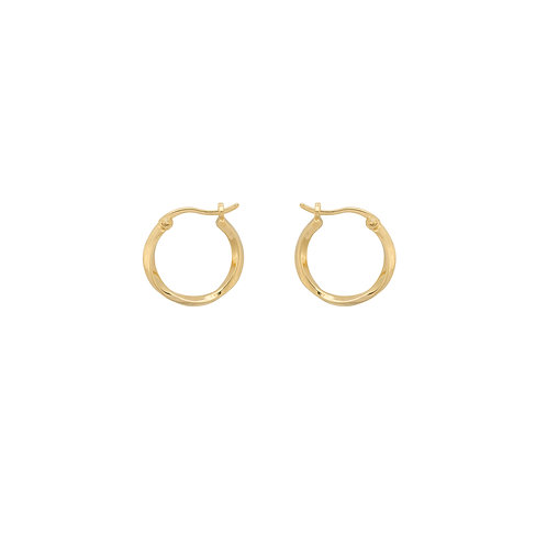 Dazzling Ring Earrings Goldplated