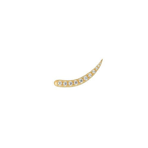 Single Zirconia Sparkle Hook Goldplated