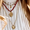Thumbnail: Heart Necklace Charm Brass Silverplated