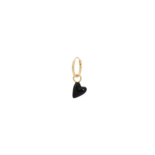 Single La Muerta Heart Ring Earring Goldplated