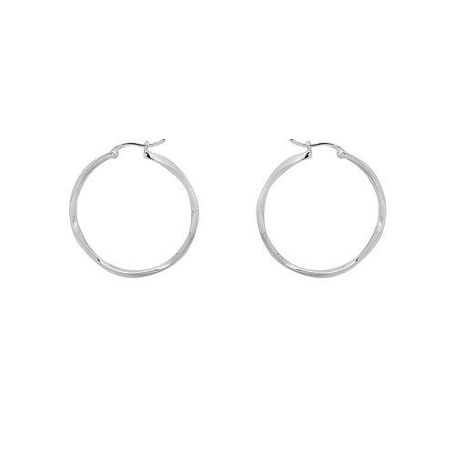 Dazzling Hoop Earrings Silverplated